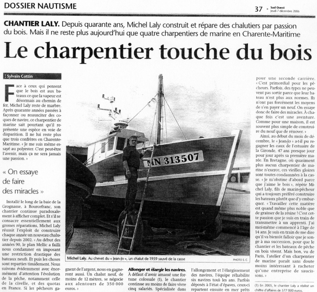 Article Sud Ouest 2006